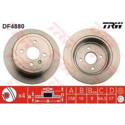 DF4880 TRW DF4880 TARCZA HAMULCOWA 258X10 P 4-OTW OPEL ZAFIRA 01 TYL SZT TRW TARCZE [914904]...