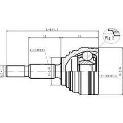 C.352 STA C.352 PRZEGUB HOMOKIN. ZEWN- RENAULT MEGANE II, CLIO III SZT STATIM PRZEGUBY STATIM [918213]...