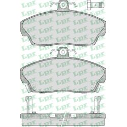 05P430 LPR 05P430 KLOCKI HAMULCOWE HONDA CONCERTO/ ROVER 214-827 90- GR.17,5MM* LPR KLOCKI LPR [923174]...