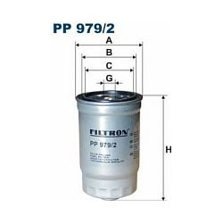 PP 979/2 F PP979/2 FILTR PALIWA HYUNDAI 1,1 2,0 08 - ; SZT FILTRY FILTRON [926474]...