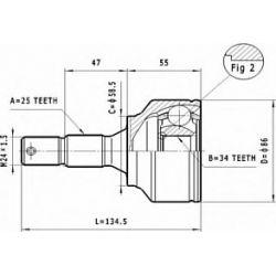 C.119 STA C.119 PRZEGUB HOMOKIN. ZEWN CITROEN C4/PEUGEOT 307 1.6/2.0 SZT STATIM PRZEGUBY STATIM [928518]...