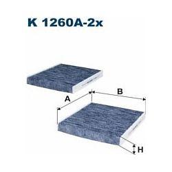 K 1260A-2X F K1260A-2X FILTR KABINOWY BMW 5 F10/F11/F18/ 7 F01/F02 SZT FILTRY FILTRON [935501]...
