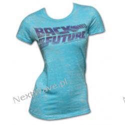 Купи Футболка Назад в будущее, женская, голубого цвета с логотипом на...