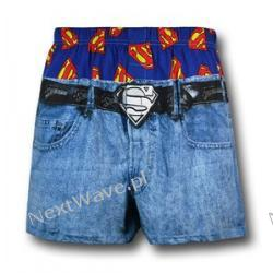 Images of Superman Under Jeans Boxer Shorts.