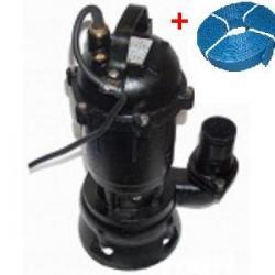 """Pompa do wody brudnej z rozdrabniaczem i pływakiem 2850W + Wąż PCV do wody 2"""" 20m..."""
