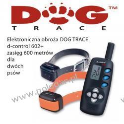 Elektroniczna obroża DOG TRACE d-control 602+ dla dwóch Psów (lepszy pasek i walizka)