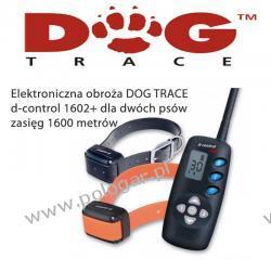 Elektroniczna obroża DOG TRACE d-control 1602+ dla dwóch Psów (lepszy pasek i walizka)