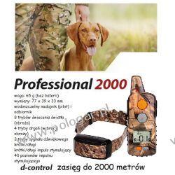 elektroniczna obroża d-c 2000+ professional dla 1-psa zasięg 2000 m lepszy pasek