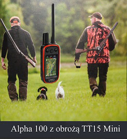 Garmin Alpha 100 z obrożą TT15 Mini