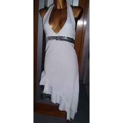Sukienka Biała,Różowa,Czarna r.34-36