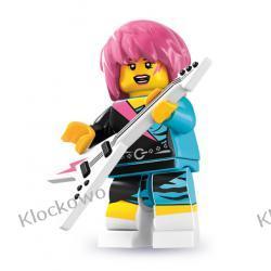 8831 - ROCKMENKA  (Rocker Girl) - 7 SERIA- KLOCKI LEGO MINIFIGURKI