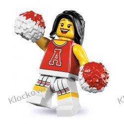8833 CZERWONA CHEERLEADERKA (Red Cheerleader) - KLOCKI LEGO MINIFIGURKI