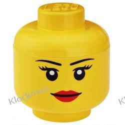 POJEMNIK LEGO GŁÓWKA DZIEWCZYNKA L - LEGO POJEMNIKI