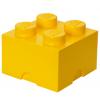 POJEMNIK LEGO 4 ŻÓŁTY - LEGO POJEMNIKI