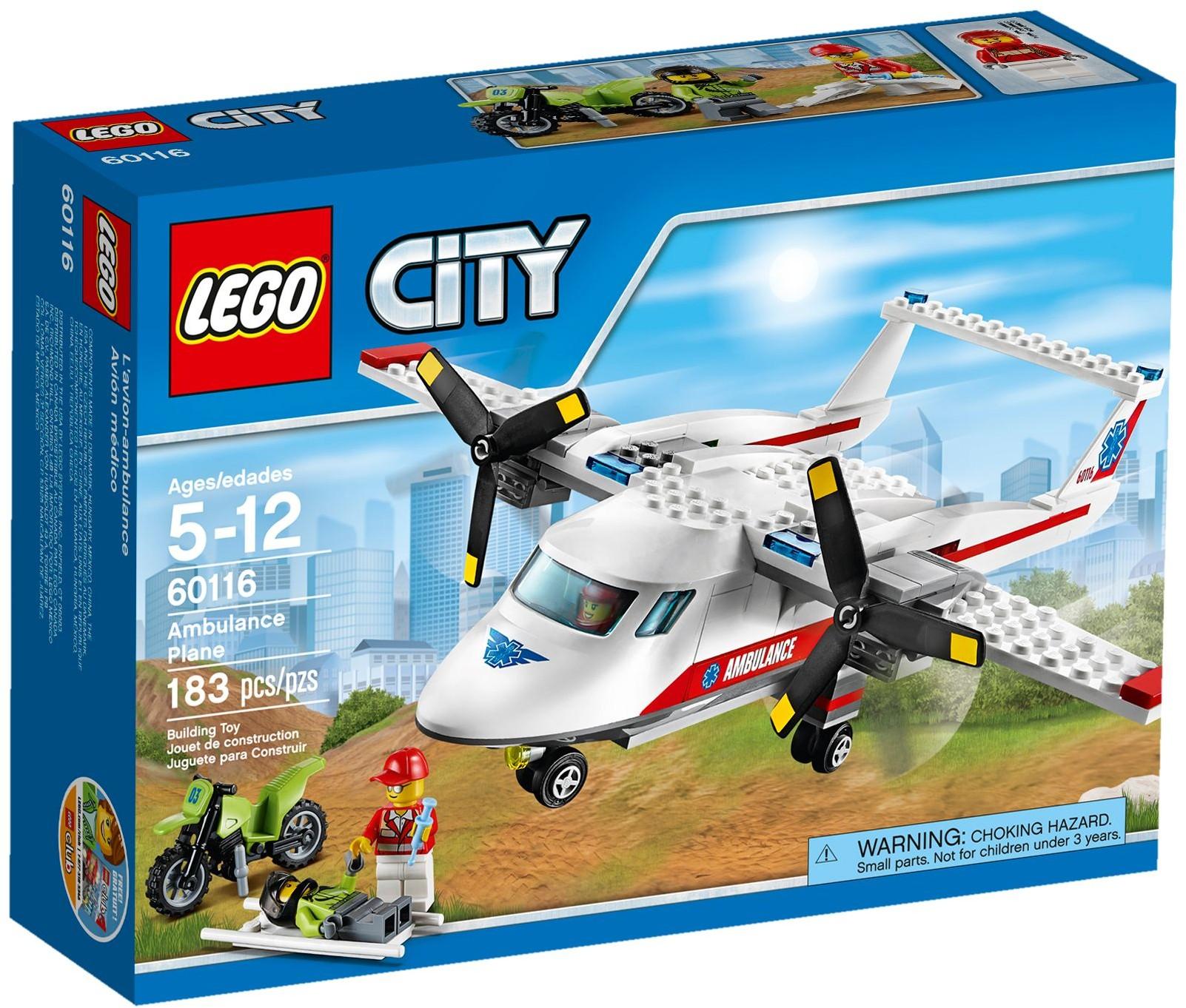 60116 Samolot Ratowniczy Ambulance Plane Klocki Lego City Lego