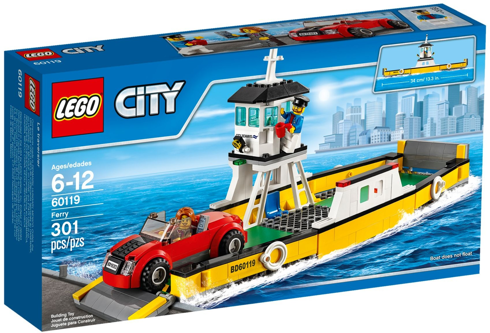 Lego City 60101 Samolot Transportowy Updated 2016 - 3D pictures