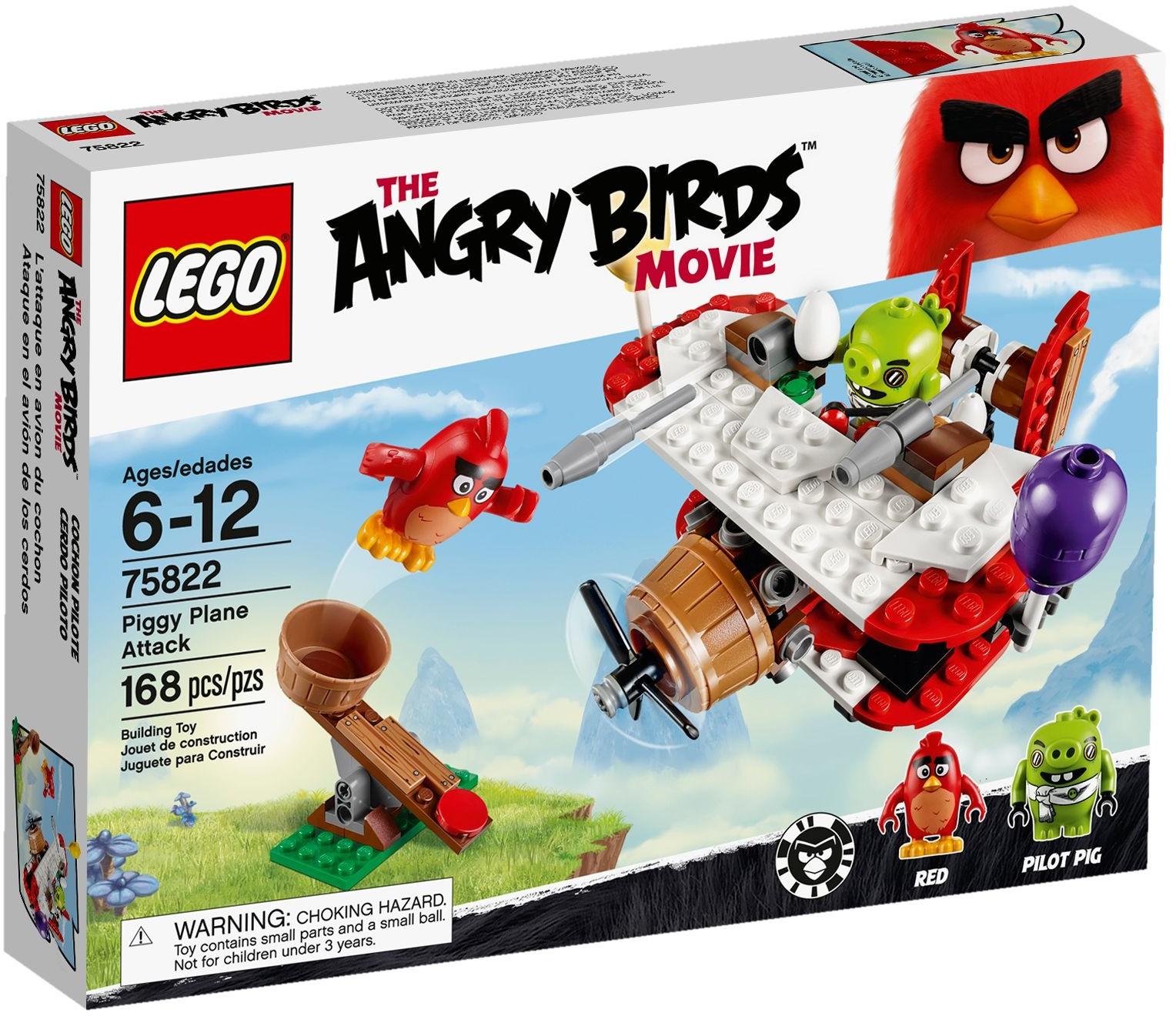 75822 Atak Samolotem świnek Piggy Plane Attack Klocki Lego Angry