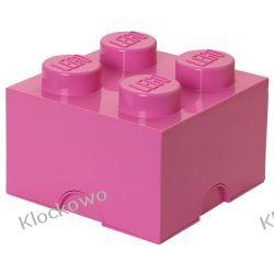 POJEMNIK LEGO 4 RÓŻOWY - LEGO POJEMNIKI