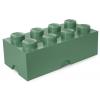POJEMNIK LEGO 8 PIASKOWA ZIELEŃ - LEGO POJEMNIKI