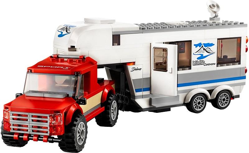 60182 Pickup Z Przyczepą Pickup Caravan Klocki Lego City Lego