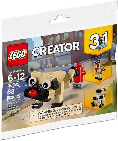 30542 Uroczy Mops Cute Pug Klocki Lego Mini Builds Lego Creator