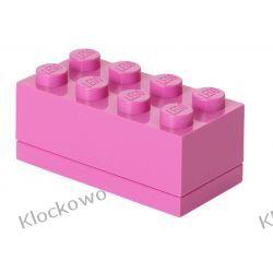 MINI POJEMNIK LEGO 8 RÓŻOWY- LEGO POJEMNIKI