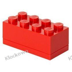 MINI POJEMNIK LEGO 8 CZERWONY- LEGO POJEMNIKI