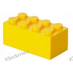 MINI POJEMNIK LEGO 8 ŻÓŁTY - LEGO POJEMNIKI