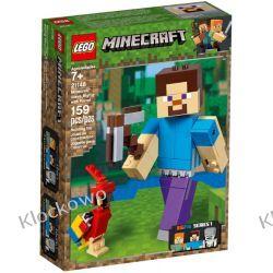 21148 MINECRAFT BIGFIG — STEVE Z PAPUGĄ (Minecraft Steve BigFig with Parrot)- KLOCKI LEGO MINECRAFT