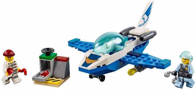 60206 Policyjny Patrol Powietrzny Jet Patrol Klocki Lego City