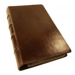 WIZYTOWNIK na 400 WIZYTÓWEK KW-46/400E RETRO wykonany z ekoskóry - wyrób wzorowany jest na starych księgach - kolekcja VIP TOMI GINALDI