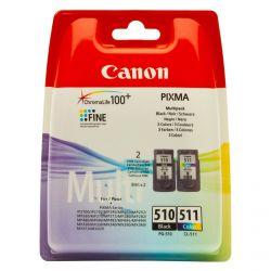 Zestaw tuszy Canon PG-510 CL-511 oryginalny kolor + czarny