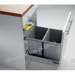 KOSZ NA ŚMIECI wysuwany 500MM wstawiany do szuflady 2x17L - PEKA PULLBOY VARIO 500/ wys. 320/ 2x17 09.806.S
