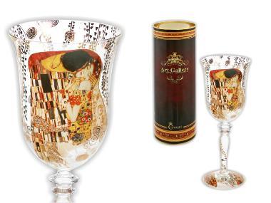 841-0402 Kieliszek do wina - Pocałunek - Klimt