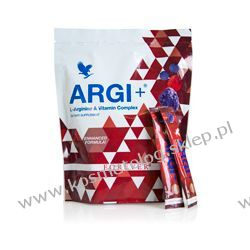 ARGI+ w saszetkach - wysoka dawka  L-argininy, witamin C, B6, B12 oraz kwasu foliowego ! 30 saszetek x 10g