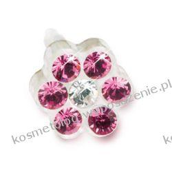 Kolczyk do przekłuwania uszu -12-0114-42 DAISY 5mm Rose/ Crysta
