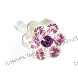Kolczyk do przekłuwania uszu -12-0114-47 DAISY 5mm Light Rose/ Amethys