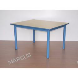 Stolik przedszkolny sześciokątny  na nogach grubości fi 48mm o boku a=65cm Rozmiar 5,6