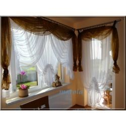 *20* Nowa dostojna firana z gipiurą -okno + balkon