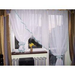 *6* Nowa firana balkonowa - 2 upięcia Firany gotowe
