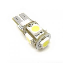CAN BUS W5W T10 5x SMD 5050 Led Postojówki