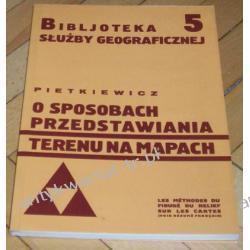 O sposobach przedstawiania terenu na mapach Stanisław Pietkiewicz