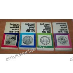 Ilustrowany katalog monet i banknotów polskich - 4 książki