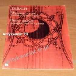 Jan Sebastian Bach, Wybrane utwory w transkrypcji na 1 i 2 gitary Chemia nieorganiczna