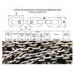 Łańcuch Rozrzutnika MENGELE HAGEDORN 10x38 KL5 Części do maszyn rolniczych