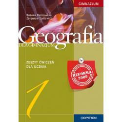 Geografia 1. Zeszyt ćwiczeń. Reforma 2009