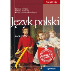 Język polski 1. Podręcznik. Reforma 2009