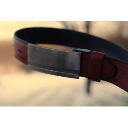 Pasek męski do garnituru - LEATHER BELT 0587
