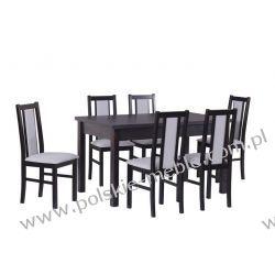 Stół MODENA 1 + krzesła BOSS 14 (6szt.) - zestaw DX17