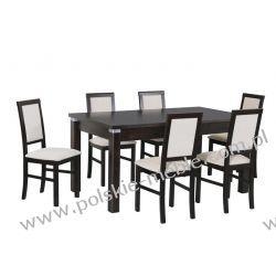 Stół MODENA 4 ALU + krzesła NILO 3 (6szt.) - zestaw DX34